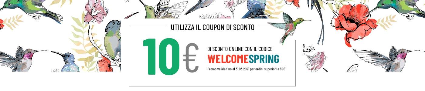 10€ di sconto con il codice welcomespring